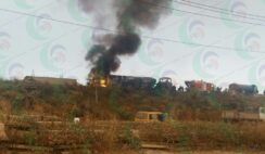 TANKER EXPLOSION AROUND MFM PRAYER CITY MAGBORO