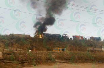 TANKER EXPLOSION AROUND MFM PRAYER CITY MAGBORO